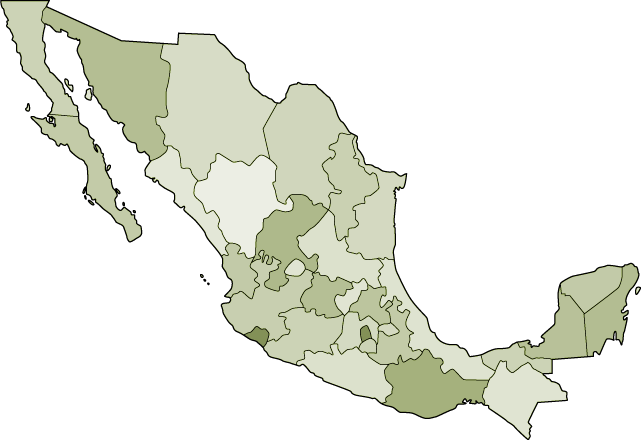 mapa de asociaciones estatales