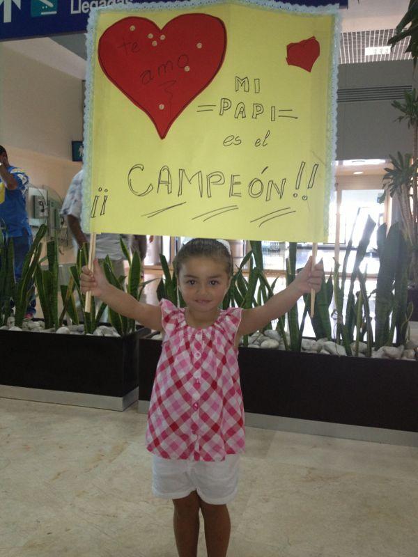 El Recibimiento de la hijita de Yussef Barquet, a su regreso del VIII Campeonato Nacional Big Game 2013