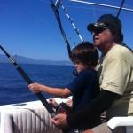 Regina dia de pesca 07 sep 2012.Emiliano cordeleando un marlin.