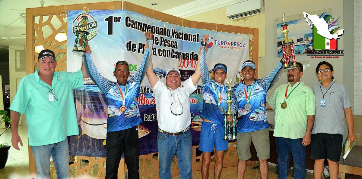 Todo un éxito el 1er Campeonato Nacional de Pesca de playa con carnada MAZATLÁN SINALOA Agosto 31 – Septiembre 1 del 2019.